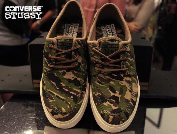 【 現貨 】全新正品 聯名鞋款 Stussy x Converse Sea Star Camo 迷彩帆船鞋 US 8 10.5 陳冠希著用