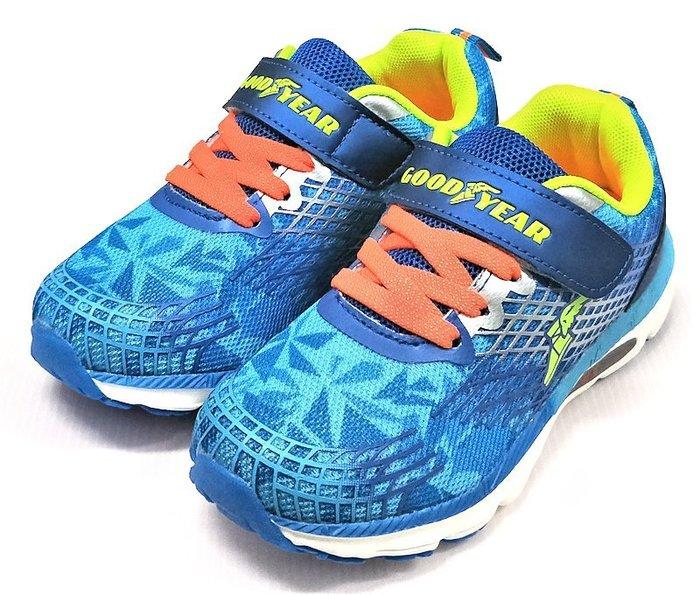 【艾咪】GOODYEAR 幾何圖 超輕量夜光底運動鞋 極光系列 藍GAKR78406