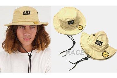 【RACE】CATERPILLAR TRADEMARK SAFARI CAP CAT 漁夫帽 綁帶 工裝 LOGO 卡其