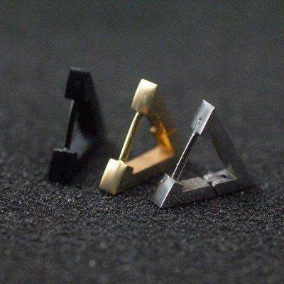 ZIHOPE 創意時尚耳扣男單只 潮人韓版朋克黑色嘻哈耳環 防過敏耳釘ZI812