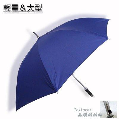 【羽量級】質男_Mettle - 撥水直立傘/長傘(藍) /雨傘自動傘防風傘大傘抗UV傘潑水傘陽傘洋傘直傘 (免運)