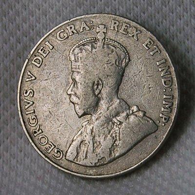 加拿大 (CANADA) 1928年 喬治五世 5 CENT 鎳幣 VF+ 【A1889】