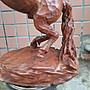 邱華海大師遺作-牛樟木雕-馬到成功(高58.5長45cm)