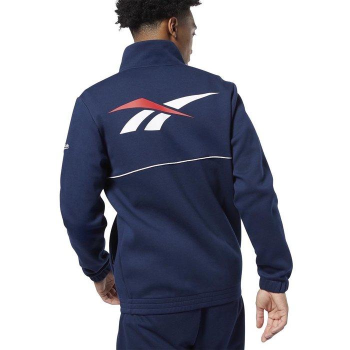 FOCA  REEBOK BACK VECTOR TRACK 運動外套  立領外套 藍色 深藍 舒適 FP8809
