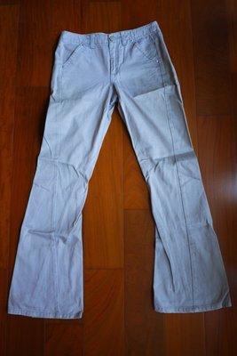 edc 灰色小尺寸立體剪裁素面靴型牛仔褲XS號