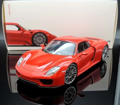 【MASH館】現貨瘋狂價 博物館版 Welly 1/18 Porsche 918 Spyder red