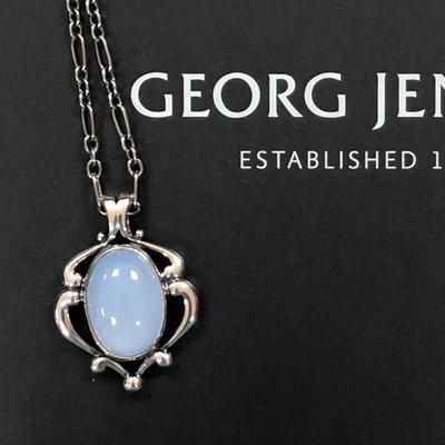 【小麥的店】GEORG JENSEN 喬治傑生2019年年度項鍊~藍玉髓