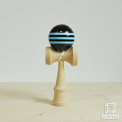 『Surpass』木質劍玉劍球 Geometry 幾何系列 藍黑色