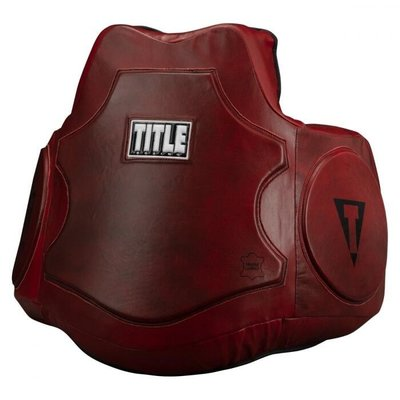 TITLE BOXING BLOOD RED LEATHER BODY 真皮牛皮護甲護胸陪練護具@03155
