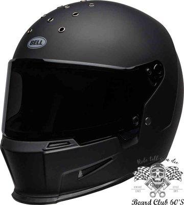 ♛大鬍子俱樂部♛ Bell ® Eliminator Solid 美國 復古 哈雷 街車 全罩 安全帽 素色 消光黑