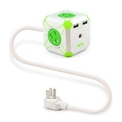 {阿治嬤} MIG 明家 Mini魔方 3孔4插+雙USB埠 電源延長線 L型插頭 1.2M 3P400U2 充電 台北市