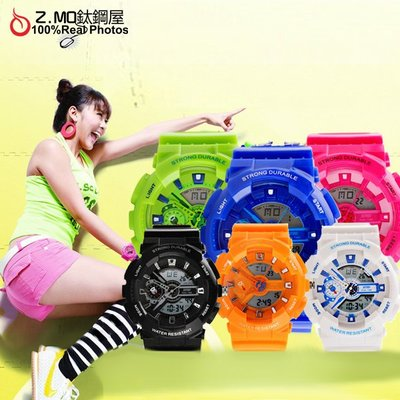 繽紛馬卡龍系列韓系手錶 防水功能強 戶外運動風格 時尚單個價【SWE005】Z.MO鈦鋼屋