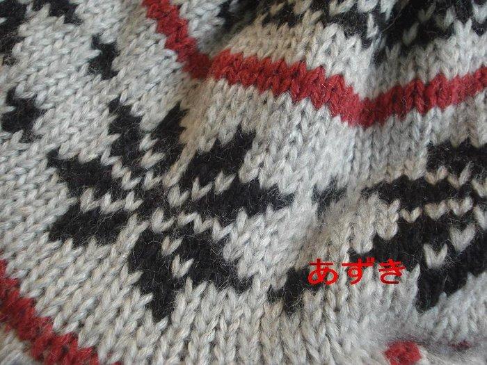 MIT製-雙層織加超柔軟內裡-雪花配色針織圖騰貝雷+遮耳飛行帽-灰色[特價]