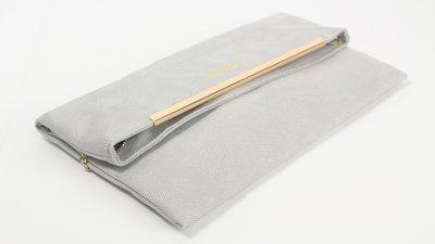 Carefree 防水信封包 幾何灰 側背包 肩背包 手拿包 手提包 鏈帶包 晚宴包