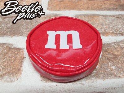BEETLE PLUS 全新 M&M'S 巧克力造型 小零錢包 CANDY PVC COIN PURSE RED 紅 亮皮 拉鍊式