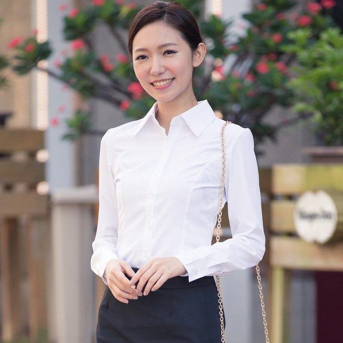 女 長袖 襯衫 韓版 V領 氣質 OL 上班族 修身【柔依衣坊 Zoe Shop】C53-601