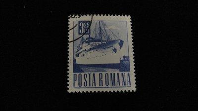 【大三元】歐洲郵票-羅馬尼亞發行-船-銷戳票1枚-原膠(1)