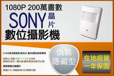 SONY晶片 微光全彩 低照度 室內偽裝型 感應式攝影機 針孔 1080P AHD 3.6MM 廣角 鏡頭 台中監視器