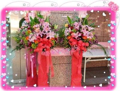 台北【兩情相悅花坊】開幕喬遷婚禮記者會世貿展高架花籃‧台北市網路超人氣花店