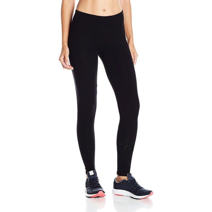 美國百分百【Calvin Klein】運動褲 長褲 緊身褲 性能 legging 跑步 黑色 女 XS號 H467