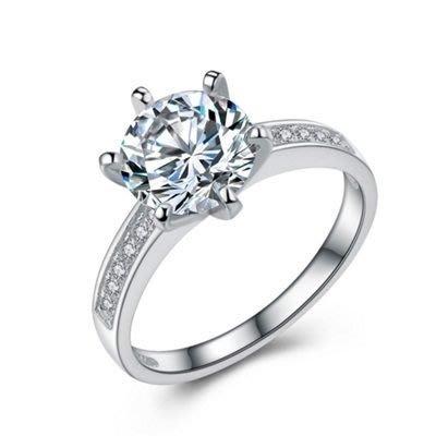 925純銀戒指 鑲鑽銀飾-高雅閃耀情人節生日禮物女飾品73an151[獨家進口][米蘭精品]