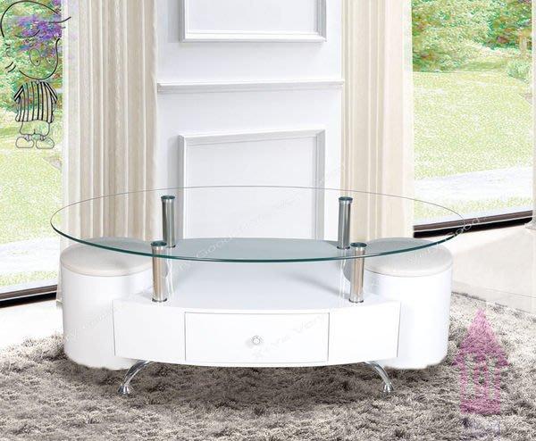 【X+Y時尚精品家具】現代客廳系列-愛迪生 白色玻璃大茶几.附座椅*2.強化雷射玻璃.摩登家具