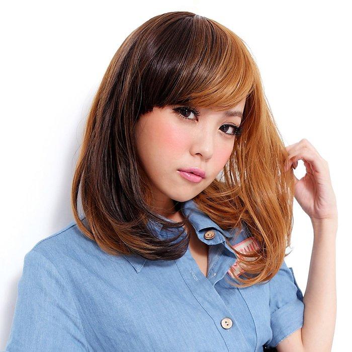 玩髮變色 雙色漸層日系短假髮【MX004】高仿真撞色整頂假髮☆雙兒網☆