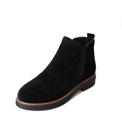 秋冬季新款韓版復古馬丁靴女英倫風磨砂學生平底粗跟短靴女鞋