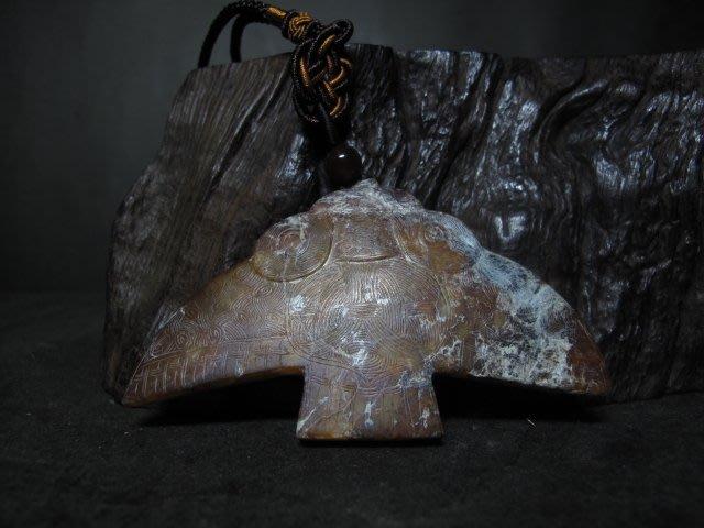 老黃玉雕◎良渚文化  古紋 神鷹