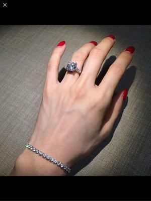 美國莫桑鑽 D色 vvs淨度 1卡淨石 100%通過鑽石筆
