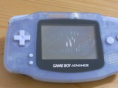 【小蕙館】電玩主機 ~ GAME BOY Advance (透明白) 螢幕淡化 / 隨機附3片遊戲