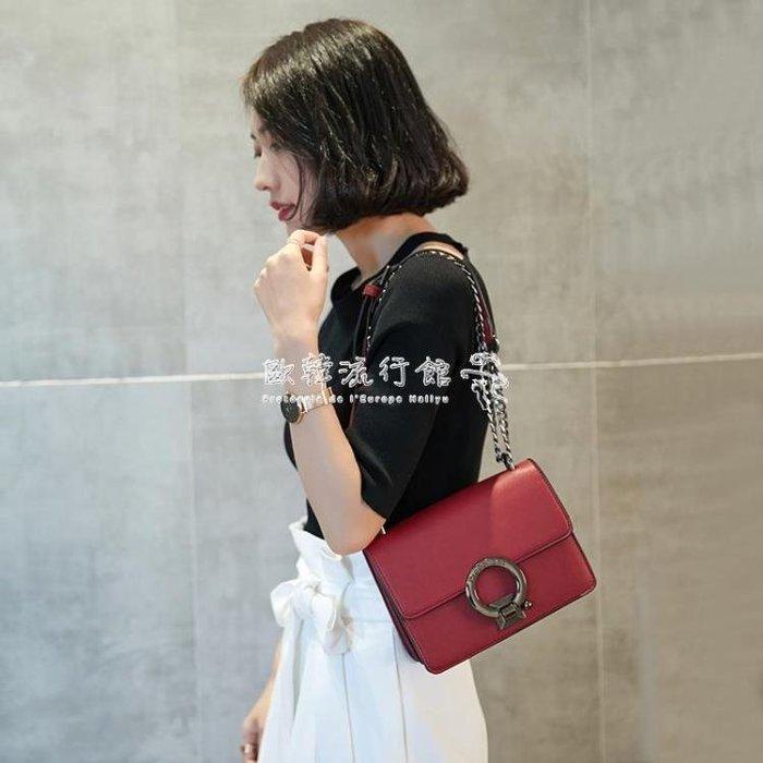 鏈條包  小包包女潮韓版百搭斜背包迷你包單肩包鏈條包小方包
