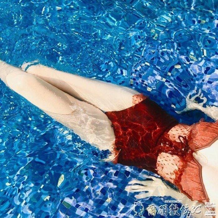 YEAHSHOP 泳裝韓國女連體輕熟蕾絲波點小胸聚攏遮肚顯Y185