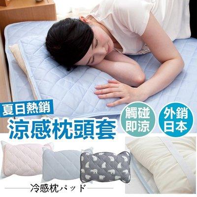 外銷日本第一 冰絲 涼感枕頭套 枕頭保潔墊 枕套 枕巾 枕頭墊 冰涼墊 .【RS798】