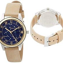日本正版 Fieldwork DT127-1 星空 星座 女錶 女用 手錶 皮革錶帶 日本代購