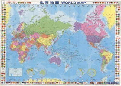 海報專賣店- 海報: CH001(世界地圖-繁體中文版 中英文對照)+細黑
