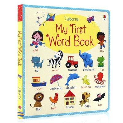 5款可選Usborne My First Word Book about Me/Food/Scool 英文單字認知硬頁書 好再來O