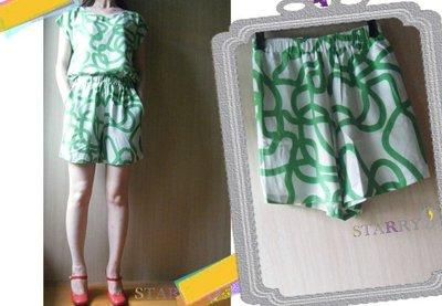 *出清特價*Dusen Dusen Johnny Squiggle Shorts綠色環狀塗鴉短褲supreme maje