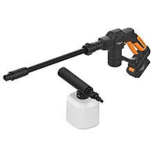 HANLIN-WS20V 居家DIY自助洗車電動噴水槍 汽機車泡沫清潔劑清洗汙垢噴霧機 強力水柱過濾水管水龍頭接頭噴槍