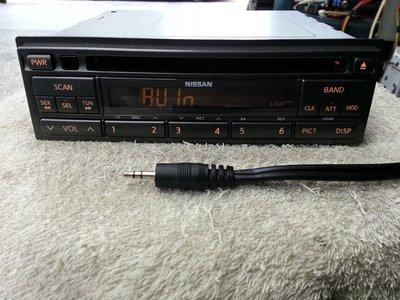 NISSAN/日產 裕隆X-TRAIL MARCH.原廠音響主機改AUX IN音源輸入.