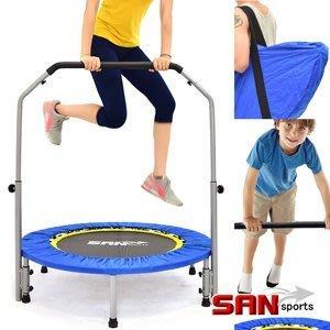 【推薦+】SAN SPORTS 跳跳樂40吋扶手折疊彈跳床C144-40A(贈送背袋)跳跳床彈簧床彈跳樂彈跳器平衡感兒童