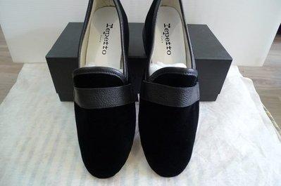 法國品牌 Repetto michael velvet slippers 黑色天鵝絨牛津鞋樂福鞋(建議穿大一號)37.5&38