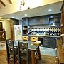 原木工坊~  原木家具訂做  室內裝潢施工  南歐風交叉腳餐桌椅組