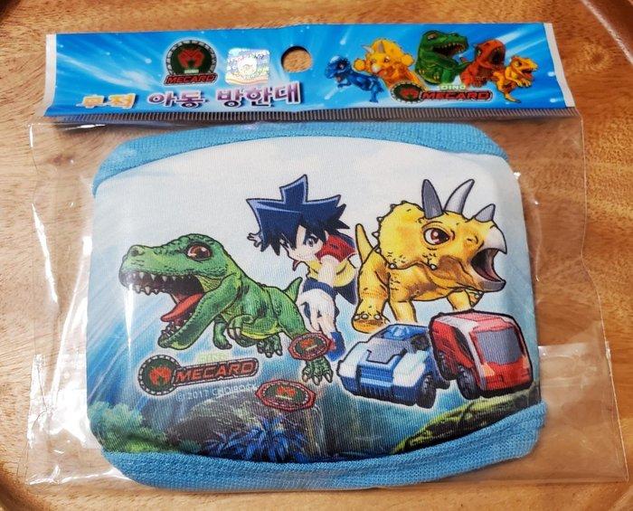 現貨 卡通 恐龍 兒童口罩 可重複使用 棉布口罩 一個 款式隨機出貨 贈送一片 口罩內襯用的不織布 開學必備