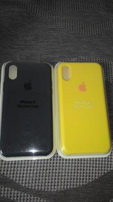 ✩Apple iphone X 官方同款矽膠保護套 午夜藍色,黃色
