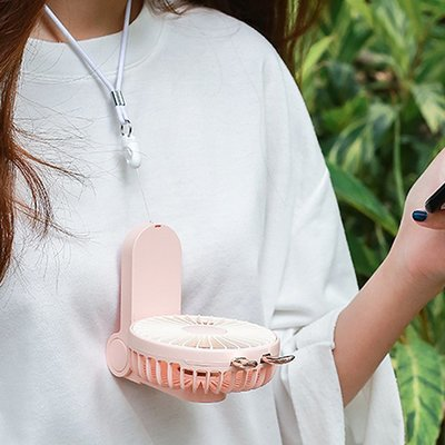 USB電風扇-2019新款三用折疊迷你扇小風扇折疊小風扇手持風扇掛脖小風扇充電風扇