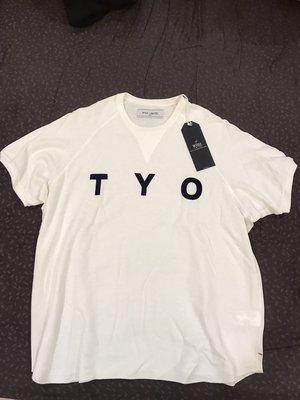 周杰倫phantaci 購入 白T全新日本WHIZ LIMITED潮牌白色短T恤衣服TYO夏天外搭上衣L