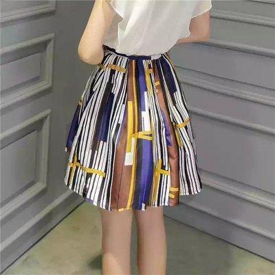 【全新】【有吊牌】 彩色條紋高腰澎裙顯瘦