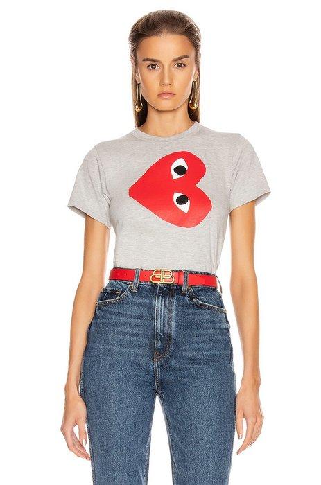 CC Collection 代購 Comme des Garçons PLAY 川久保玲 19年款 實心灰色短袖T恤