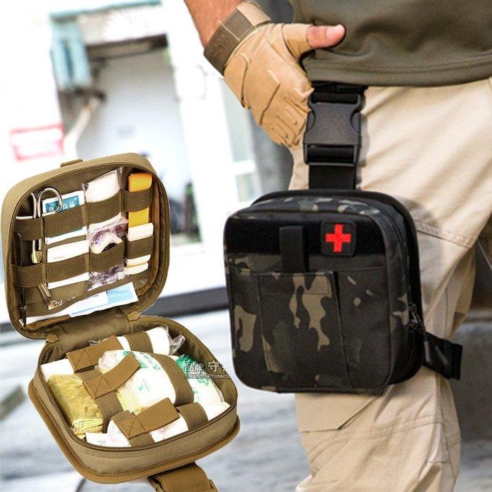 [包妳喜歡]戰術急救包醫療包戶外應急救生包小腿包野外生存包模塊化戰術腰包016